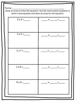 3.OA.B.5 Commutative Property with Arrays