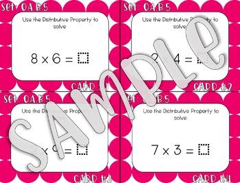 3.OA.B.5 Distributive Property Task Cards