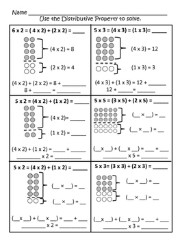 3.OA.B.5 Distributive Property with Arrays and Tape Diagrams