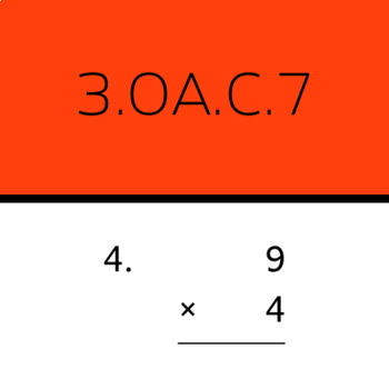 3.OA.C.7: Multiply within 100 (50 worksheets)