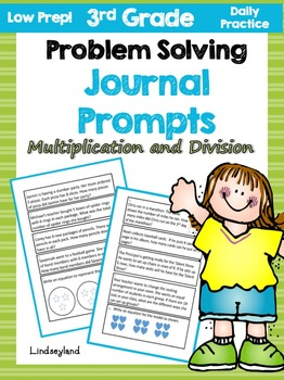 Multiplication and Division: Problem Solving Journal Prompts