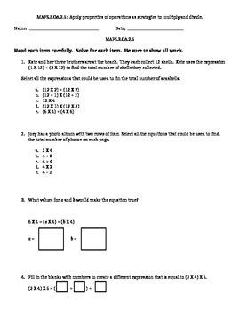 3 OA.2.5 Standard Based Assessment