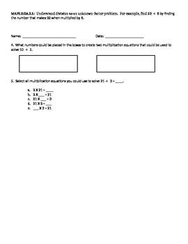 3. OA.2.6 Standard Based Assessment