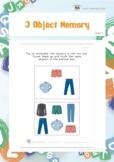 3 Object Memory (Visual Memory Worksheets)