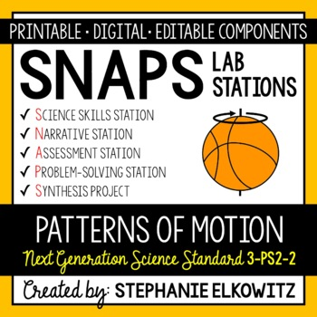 3-PS2-2 Patterns of Motion Lab Stations Activity