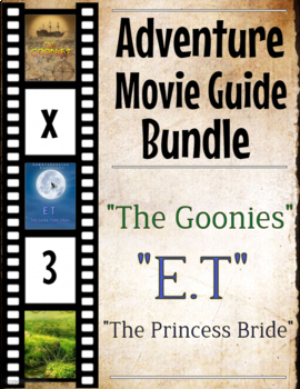 3 Pack Bundle - Adventure Movie Guide Questions + Activities