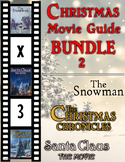 3 Pack Bundle - Christmas Movie Guide Questions + Extra Activities - Part 2