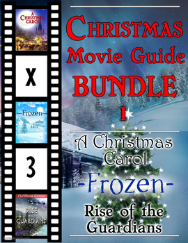 3 Pack Bundle - Christmas Movie Guide Questions + Extra Activities