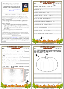 3 Pack Bundle - Halloween Movie Guide Questions + Extras
