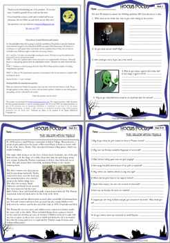 3 Pack Bundle - Halloween Movie Guide Questions + Extras Activities