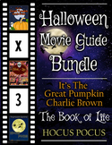 3 Pack Bundle - Halloween Movie Guide Questions + Extras A