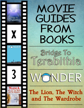 3 Pack Bundle - Movie Guides From Books - Questions + Extra Activities