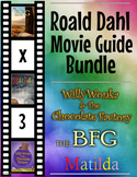 3 Pack Bundle - Roald Dahl Movie Guide Questions + Extra Activities