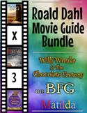 3 Pack Bundle - Roald Dahl Movie Guide Questions + Extra A