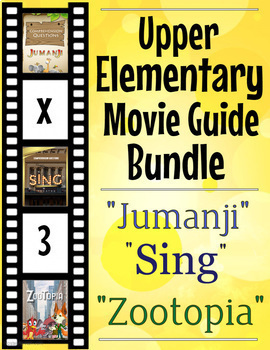 3 Pack Bundle - Upper Elementary movie guides for grades 4, 5 and 6 + Extras