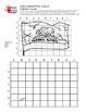 3 Pack California Bird, Flag, and Flower Grid Drawing Worksheet