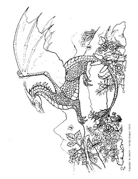 3 Pack Dragons Coloring Pages
