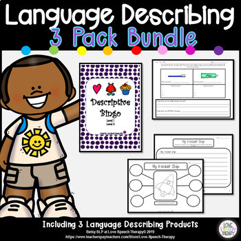 3-Pack Language Describing Bundle