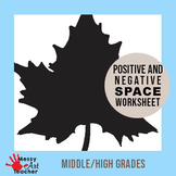 3 Pack Positive and Negative Space Worksheet for High Grades
