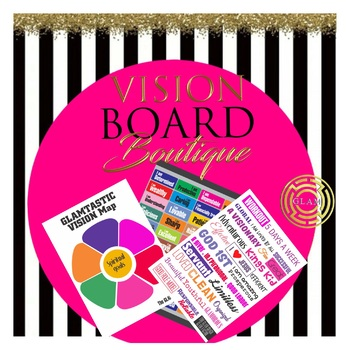 3 Page Set Vision Board DESTINY Board printable quotes