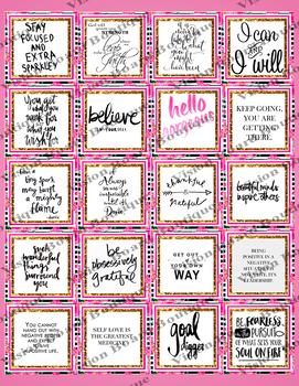 3 Pages Vision Board Quotes   Positive Affirmation   Boutique Style Lette