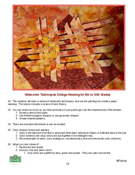 3 Paper and Tissue Paper Weaving Visual Arts Lessons for 2nd to 12 Grade