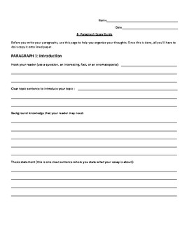 3 Paragraph Essay with Evidence Cited