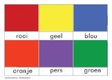 3 Part Cards - Colours (Afrikaans)