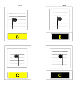 Musical Notes 3 part Cards