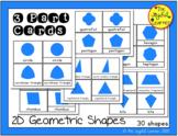 2D Shapes: 3-Part Cards + Book Making (Montessori Geometri