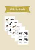 3 Part Cards - Wild Animals