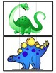 3 Part Dinosaur Matching Game