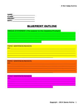 3-Part Essay Outline for Workshopping