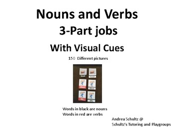 3-Part Jobs with Nouns and Verbs using visual cues