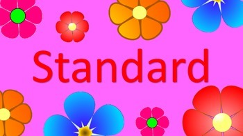 Standards - Based Classroom: 3 Part Lesson Labels - PRETTY FLOWER DESIGN!