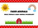 3 Part Matching Cards, Farm Animal Vocabulary: Babies, Mom