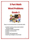 3 Part Math Word Problems for Grade 2