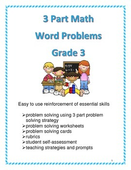 3 Part Math Word Problems for Grade 3