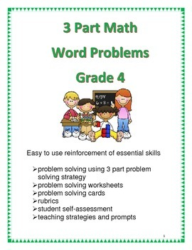 3 Part Math Word Problems for Grade 4
