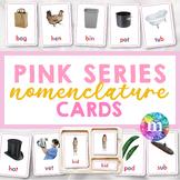 Montessori Nomenclature Cards, Pink Series, CVC words, Sho