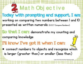 """""""3 Part"""" Objectives - Kindergarten Math C&C, OA, NBT, M&D, Geometry"""