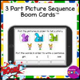 3 Part Picture Sequence and Sentence Writing BOOM Cards