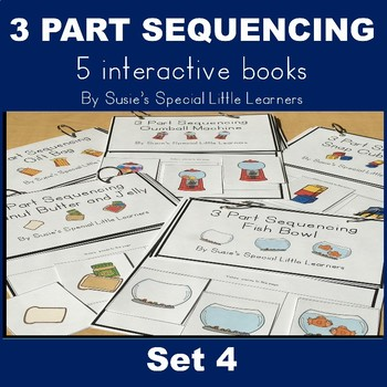 Simple 3 Part Sequencing Adapted Books for Autism (Set 4)