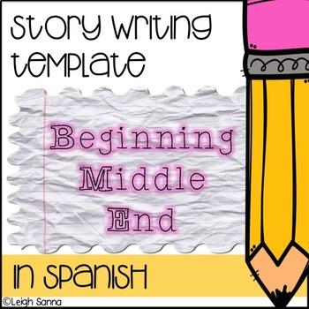 Story Writing Template: Three Part (Spanish!) (Principio,