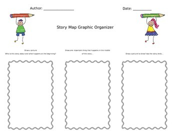 3 Part Story Map Graphic Organizer