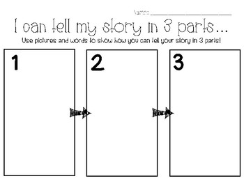 3 Part Story Planning Page