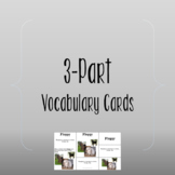 3-Part Vocabulary Cards