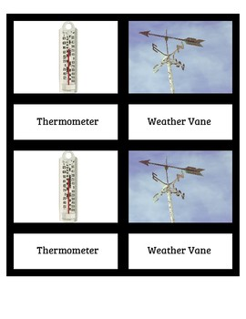 3 Part Weather Instrument Cards and Facts