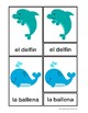3-Part cards animales mar / Sea animals