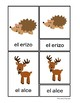 3-Part cards animales selva / Forest animals